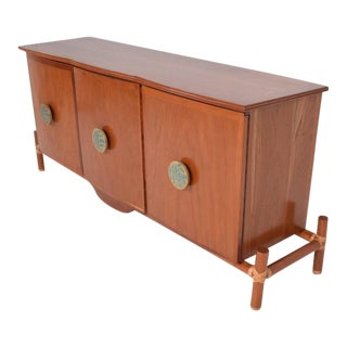 Mexican Modernist Credenza with Pepe Mendoza Pulls, Frank Kyle