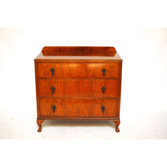 french art deco three drawer commode chairish. Black Bedroom Furniture Sets. Home Design Ideas