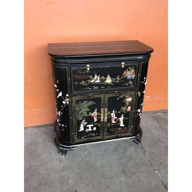 Lacquer and Inlay Hardstone Chinese Dry Bar - Image 8 of 8