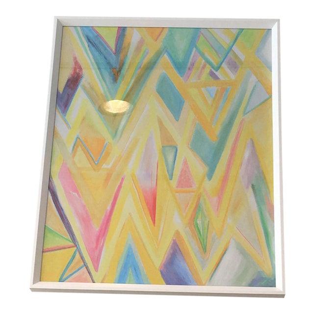 "Framed ""Peaks 4"" Print - Image 1 of 4"