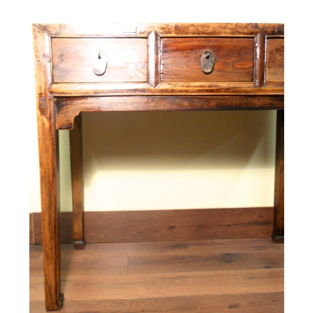 Early 1800s Antique Chinese Ming Desk - Image 3 of 9