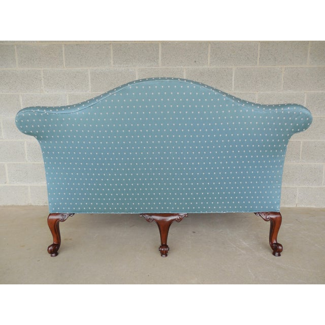 """BAKER Chippendale Style Camel Back Settee Sofa 61.5""""W - Image 5 of 11"""