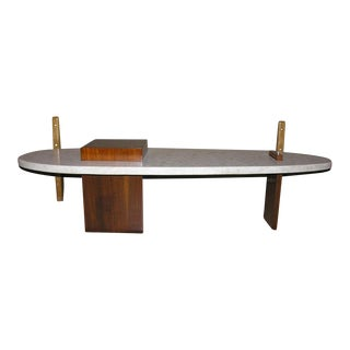 Surfboard Form Terrazo Cocktail Table after Harvey Probber