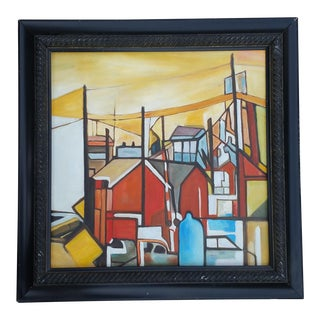 Factory Chimney Oil Painting