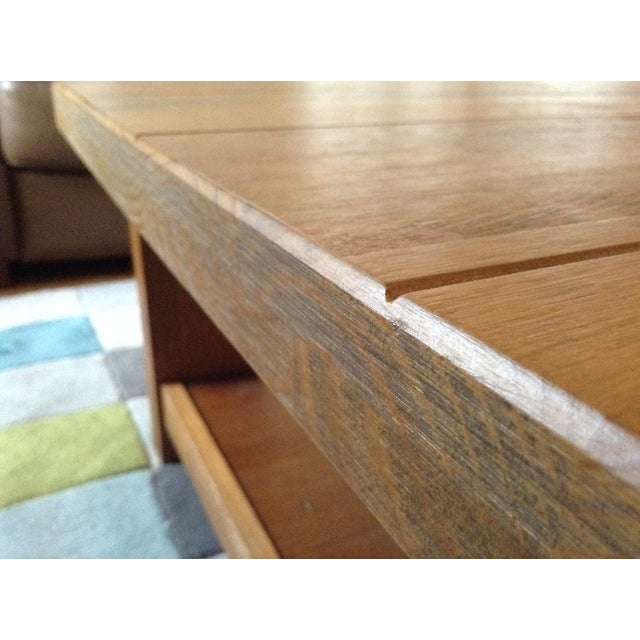 Solid Walnut Wood Coffee Table - Image 8 of 11
