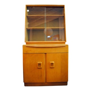 1950's Heywood Wakefield Hutch China Cabinet