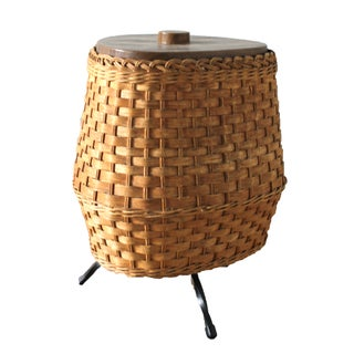 Mid-Century Wicker Ice Bucket