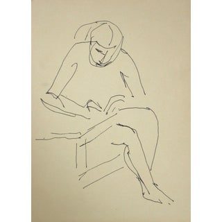 Jennings Tofel Mid-Century Line Figure Drawing