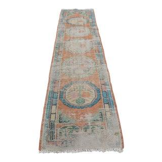 Turkish Wool Floor Runner Rug - 2′5″ × 10′7″