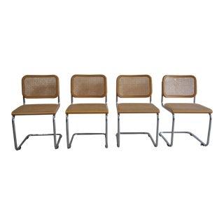 Vintage Thonet Original Marcel Breuer Cesca Chairs - Set of 4