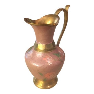 Brass Enamel Decorative Pitcher