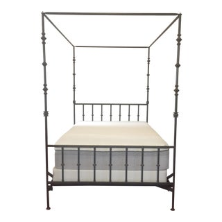 Kreiss Wrought Iron Queen Canopy Bed