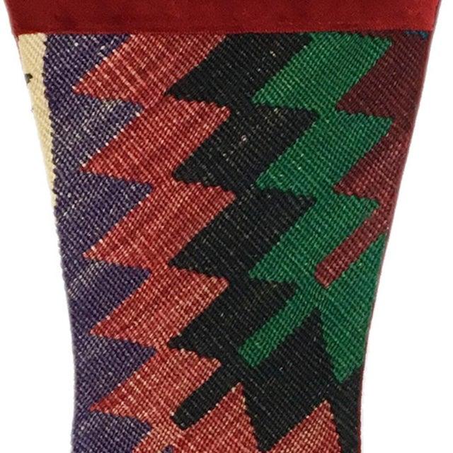 Large Kilim Christmas Stocking | Bells - Image 2 of 3