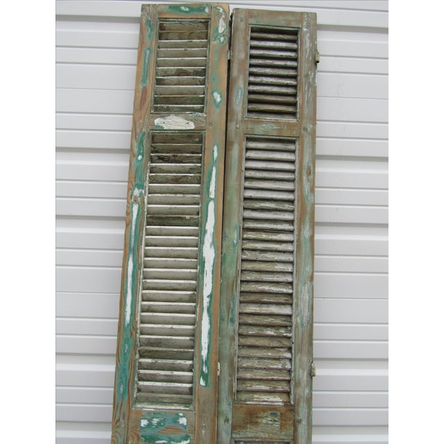 Rustic French Shutters- A Pair - Image 8 of 8