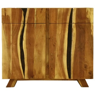Wooden Two-Drawer Sideboard