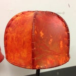 Image of Double Shaded African Table Lamp