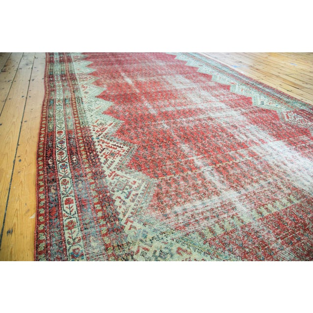 "Antique Persian Malayer Runner - 6'9"" x 15'10"" - Image 5 of 5"