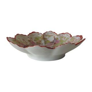 Porcelain Japanese Fluted Lotus Bowl