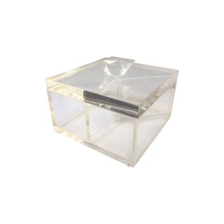 Modernist Lucite Clear Sculptural Box