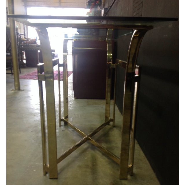 DIA Style Brass Console Table - Image 7 of 7