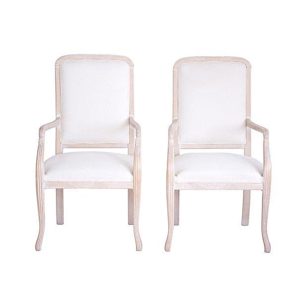 Italian Armchairs by Chateaux D'Ax - a Pair - Image 2 of 7