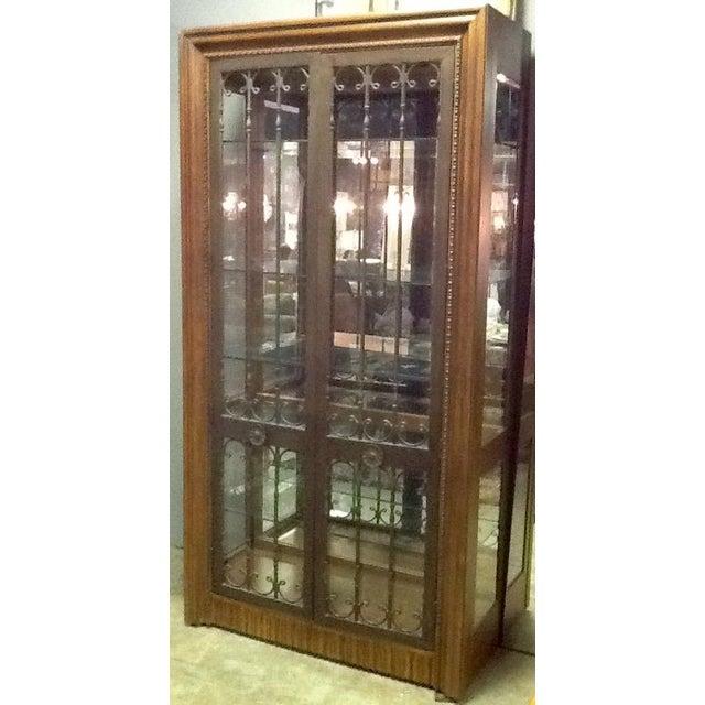 Bernhardt Wood, Glass & Iron Curio Cabinet - Image 4 of 5