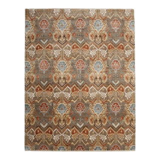 """Ikat Hand Knotted Area Rug - 8'1"""" X 10'4"""""""