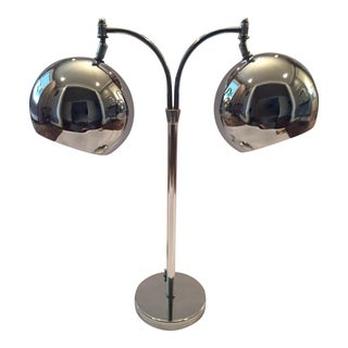 Chrome Eyeball Orb Table Lamp
