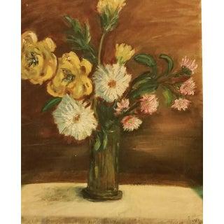 1954 Floral Still Life Canvas Board