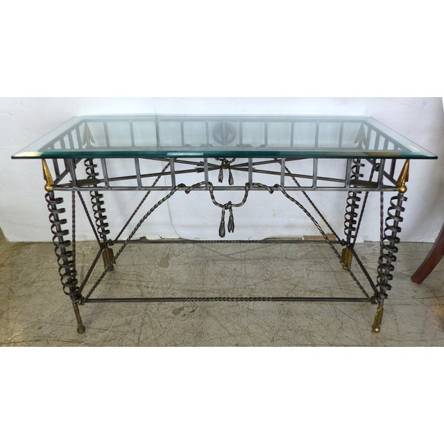 Image of Iron & Brass Neoclassical-Style Console
