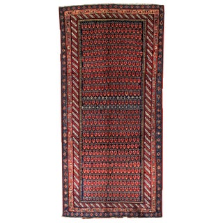 1880s Hand Made Antique Persian Northwest Persian Rug - 4.9' X 10.4'
