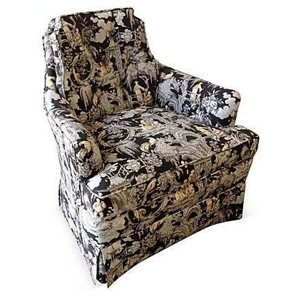 Toile Club Chair - Image 1 of 6