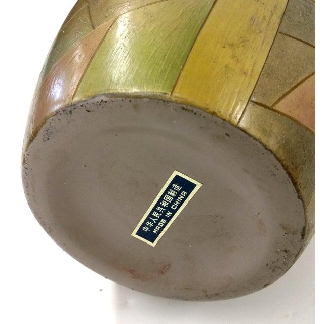 Unique Chinese Vintage Patchwork Ceramic Vase - Image 7 of 9