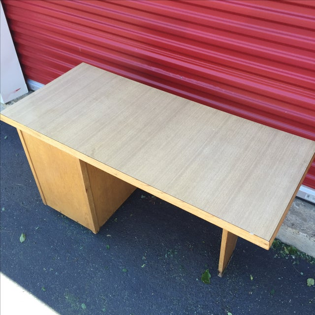 Mid-Century Modern Eight Drawer Desk - Image 10 of 11