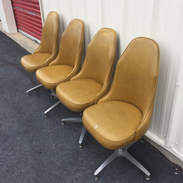 Image of Vintage Mid Century Low Stools - Set of 4