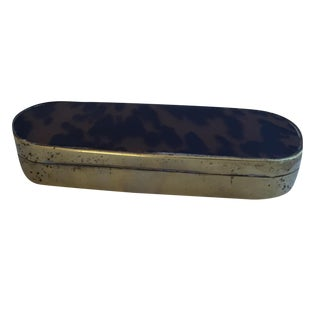 Brass and Faux Tortoise Shell Box