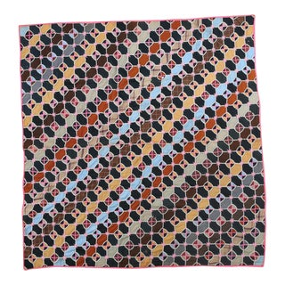 Handmade Multicolored Stitched Quilt
