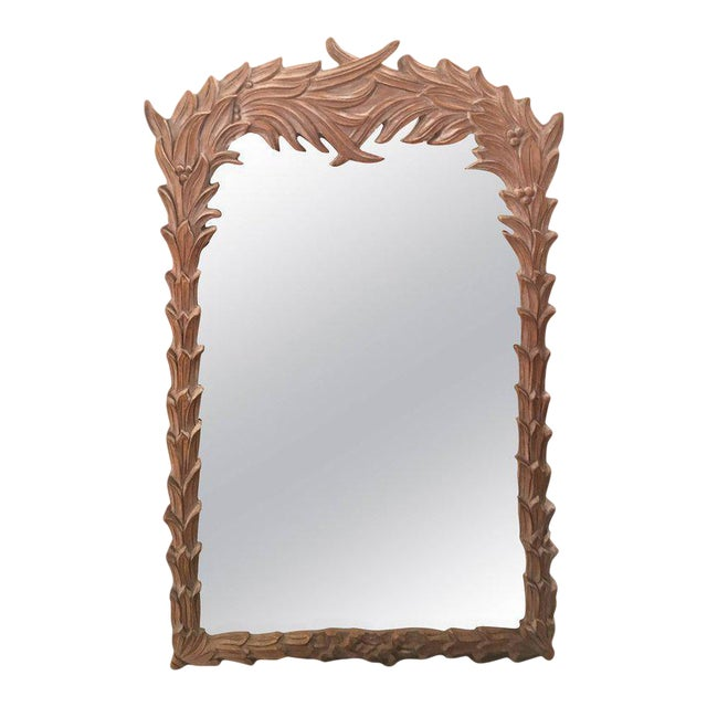 Vintage Palm Frond Wall Mirror - Image 1 of 9