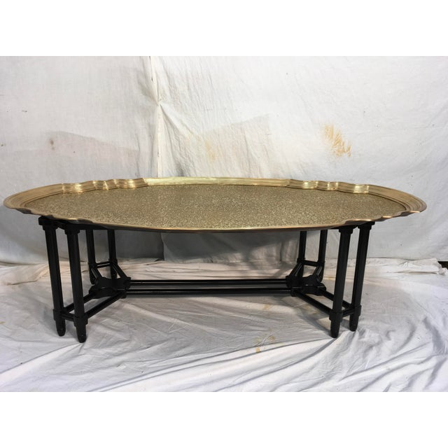 Image of Baker Furniture Brass Tray Table