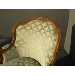Image of Vintage French Louis XV Style Barrel Back Bergere Chair