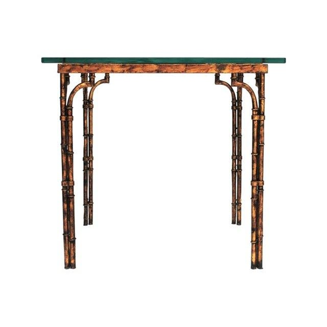 Image of Gilded Bamboo-Style Dining Table