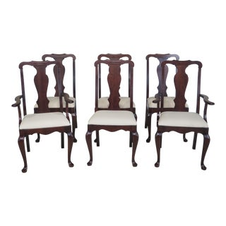 Pennsylvania House Cherry Queen Anne Dining Chairs - Set of 6