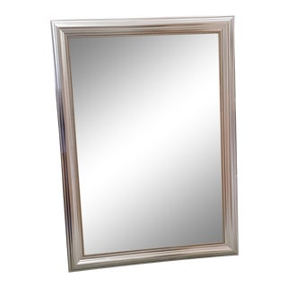 Silver Wood Frame Mirror