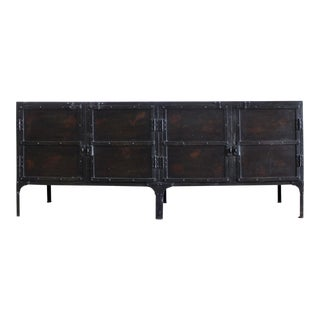 Steel Storage Locker- Industrial Iron Sideboard Cabinet