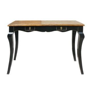Chinese Brown & Black Wood Desk
