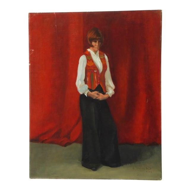 Estelle Bernstien Vintage Painting of a Woman - Image 1 of 5