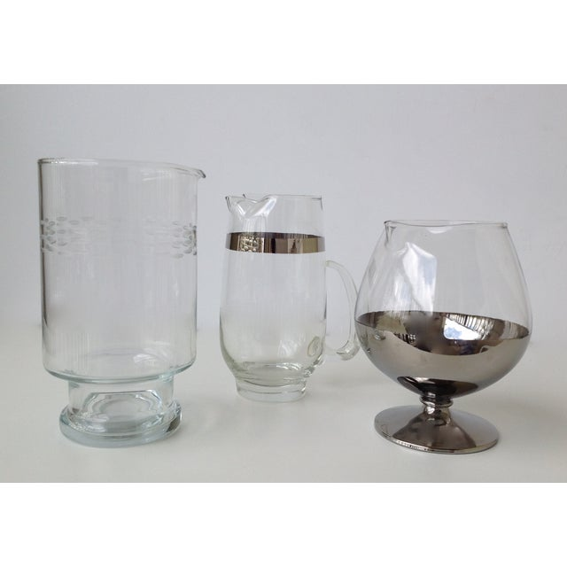Assorted Glass & Silver Cocktail Mixers - Set of 3 - Image 5 of 10