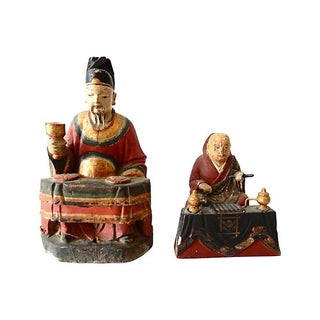 1800s Japanese Deity Figures - A Pair