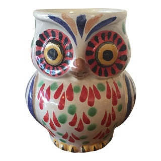 Hand Painted Owl Mug, Mexico