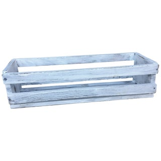 Vintage Farmer's White Wooden Crate